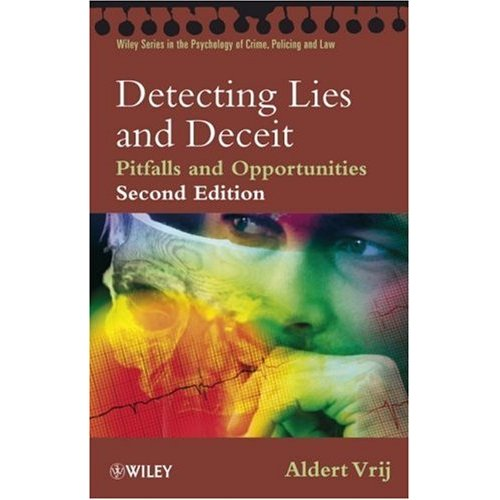 aldert vrij detecting lies and deceit pitfalls and opportunities pdf